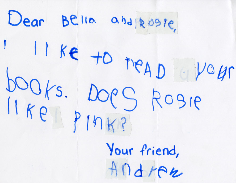 Letter to Bella and Rosie