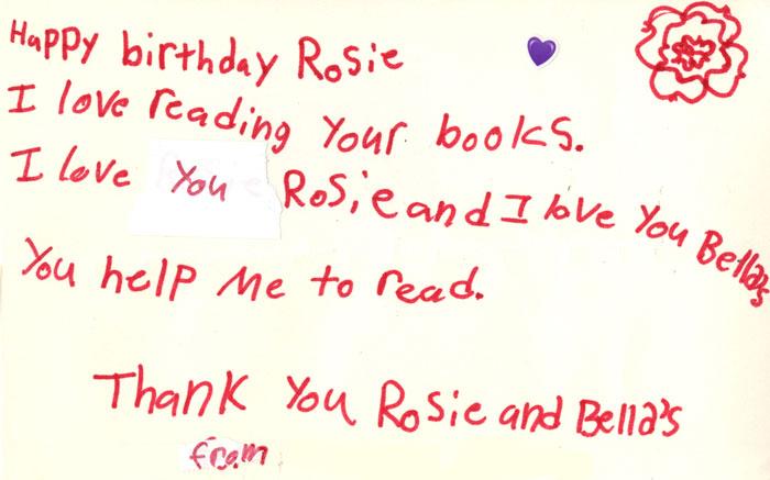Letter: Happy Birthday, Rosie!