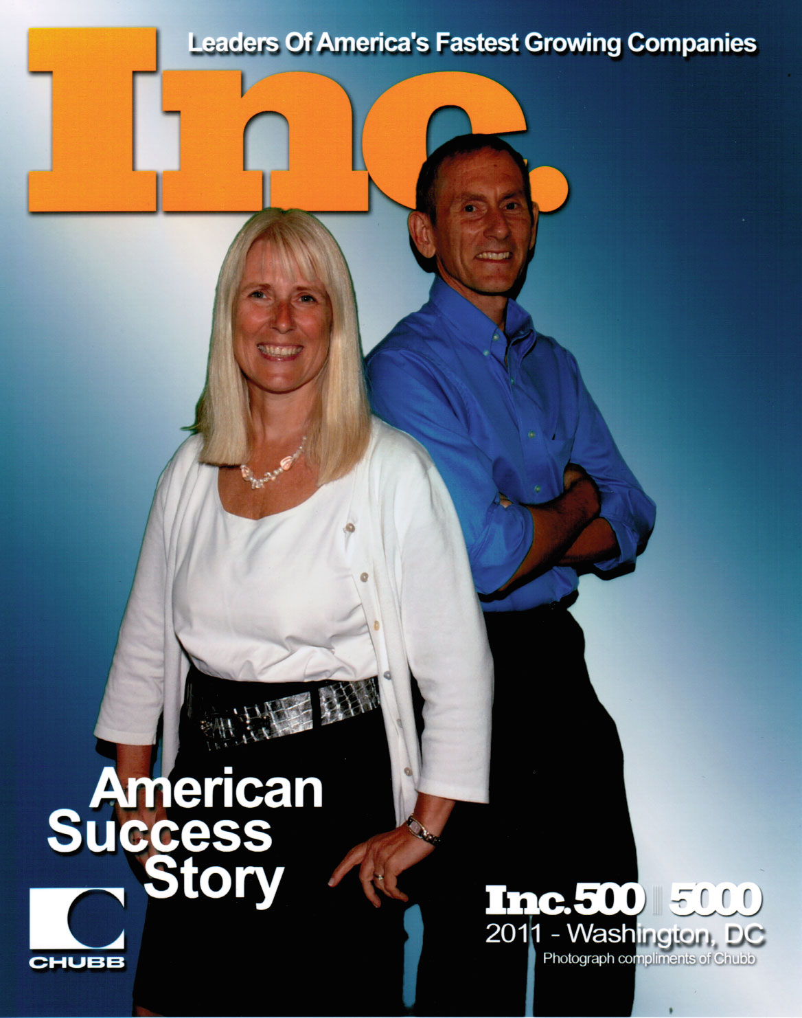 Michele and Bob Dufresne having a little fun at the Inc. 5000 Conference in September 2011.