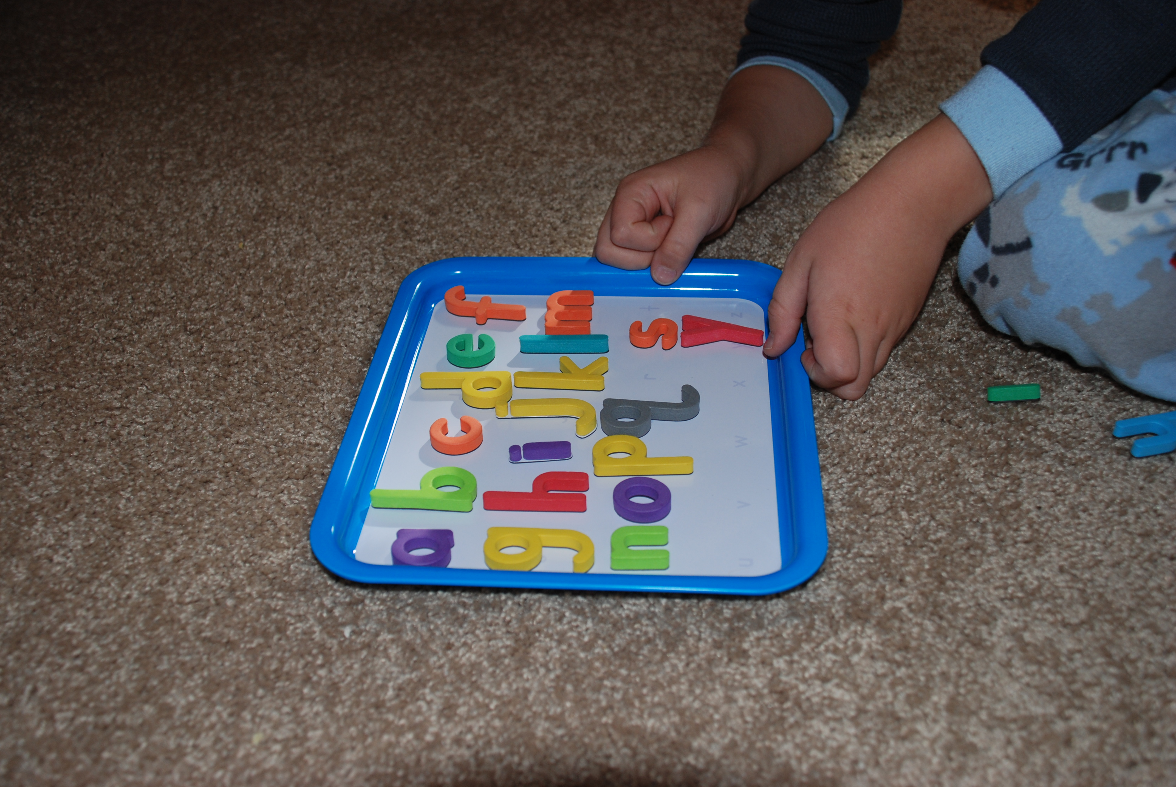 Tray with Letters