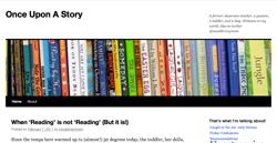 Once Upon A Story blog screenshot