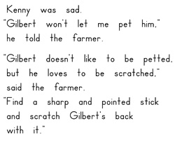 Petting Gilbert by Michele Dufresne