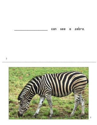 Zoo Animals Downloadable Book for Early Literacy and Teaching Reading
